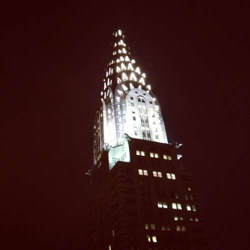 Chrysler Building Lit Up