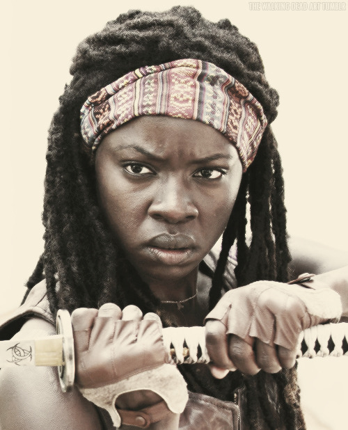 the-walking-dead-art:  Michonne | Weapon of choice