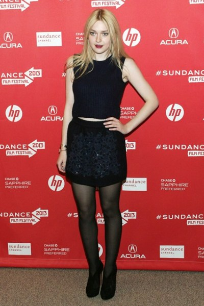 Dakota Fanning at the Sundance Film Festival premiere of Very Good Girls in Utah on Tuesday…