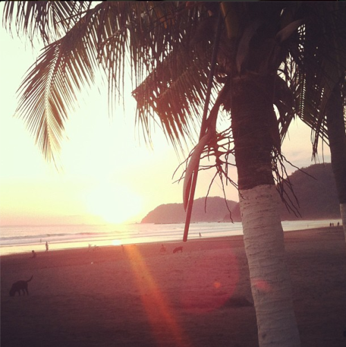 sarahgwd:  sunset on the beach, Hotel Balcon Del Mar, Jaco, Costa Rica