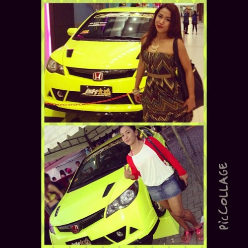 Dreaming to have my first car and i want it to be just like this! NEON baby!!! 😜✌ #piccollage #nov2012 #may2013 #carshow #cool