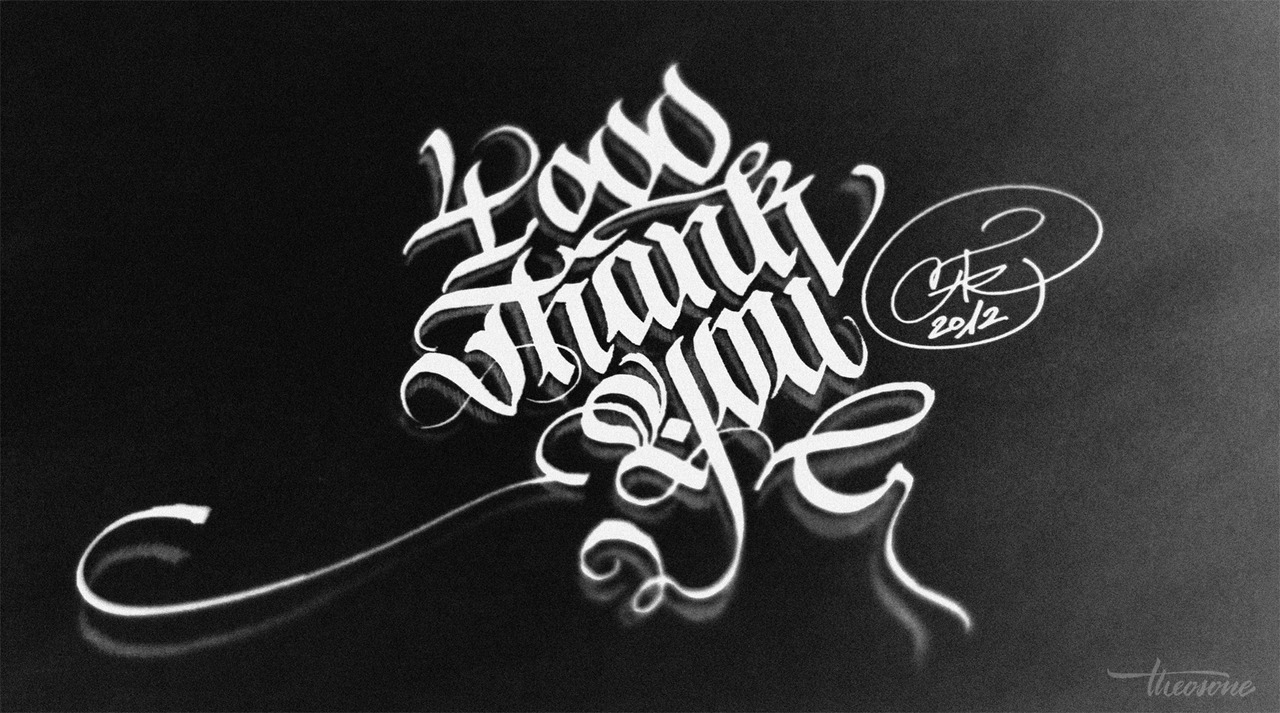 calligraphi.ca - facebook fan thanks - calligraphy pen and pencil - theosone