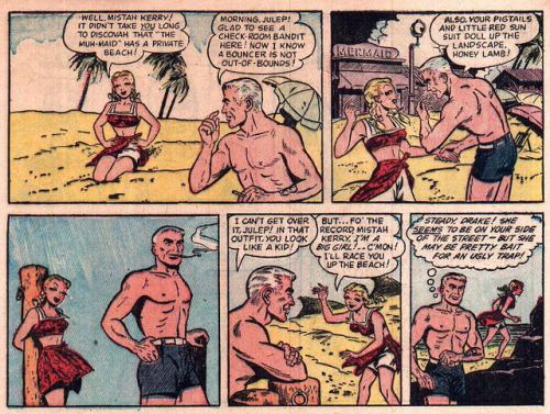"Panels from Chamber Of Clues #28 (1955)  ""Pretty bait for an ugly trap!"""