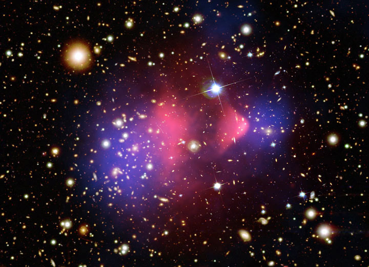"Dark Matter Search Results Indicate First Hint of WIMP-like Signal | Texas A&M University, College of Science COLLEGE STATION — An international collaboration whose search for dark matter is powered by detectors being fabricated at Texas A&M University has for the first time observed a concrete hint of what physicists believe to be the particle behind dark matter and therefore nearly a quarter of the universe — a WIMP, or weakly interacting massive particle. Scientists with the international Super Cryogenic Dark Matter Search (SuperCDMS) experiment involving Texas A&M high-energy physicist Rupak Mahapatra are reporting a WIMP-like signal at the 3-sigma level, indicating a 99.8 percent chance — or, in high-energy parlance, a hint of the mysterious substance dark matter that is believed to hold the cosmos together but to date has never been directly observed. ""In high-energy physics, a discovery is only claimed at 5-sigma or better,"" Mahapatra said. ""So this is certainly very exciting, but not fully convincing by the standards. We just need more data to be sure. For now, we have to live with this tantalizing hint of one of the biggest puzzles of our time."" SuperCDMS researchers are announcing their breakthrough result in talks around the nation, including one at noon today (Monday, April 15) by Mahapatra, a principal investigator in the collaboration and a member of the George P. and Cynthia Woods Mitchell Institute for Fundamental Physics and Astronomy. Mahapatra's public presentation will be held in the Stephen W. Hawking Auditorium within the Mitchell Institute and streamed live via TTVN. The collaboration has detailed its full results in a paper published in arXiv that eventually will appear in Physical Review Letters. Notoriously elusive, WIMPs rarely interact with normal matter and therefore are difficult to detect. Scientists believe they occasionally bounce off, or scatter like billiard balls from, atomic nuclei, leaving behind a small amount of energy capable of being tracked by detectors deep underground, particle colliders such as the Large Hadron Collider at CERN and even instruments in space like the Alpha Magnetic Spectrometer (AMS) mounted on the International Space Station (ISS)."
