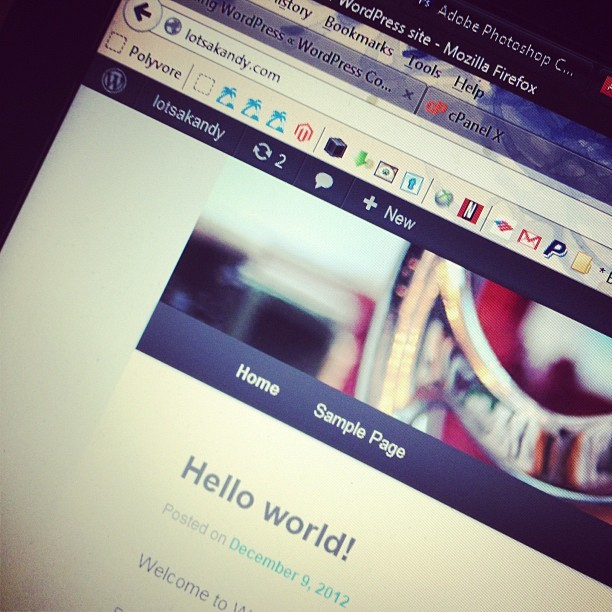 WordPress installed, psyching myself up for coding this theme from scratch. #nerd #webdesign #graphicdesign #wordpress #html #css #php #coding #custom #theme