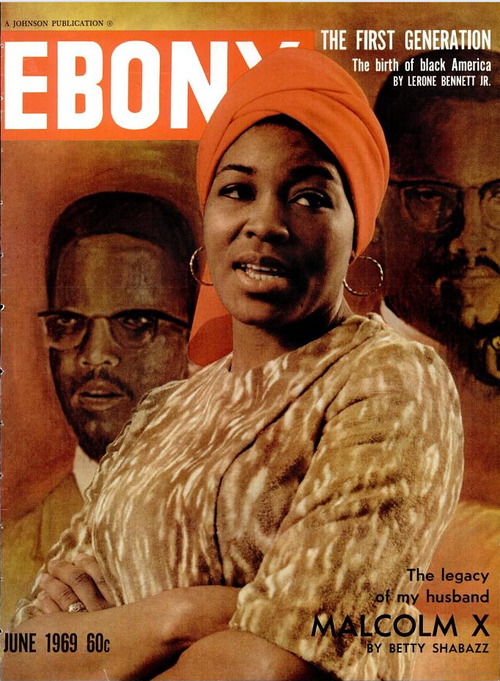 Classic Ebony Magazine cover of Betty Shabazz (May 28, 1934 - June 23, 1997): educator, activist, mother of 6 and the widow of Malcolm X. This was only a few years after he was assassinated. I am trying to find the original article. No luck yet.
