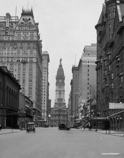 collective-history:  Broad Street and City Hall tower, Philadelphia, ca.1910-20