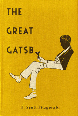 aledlewis:  Gatsby Book cover design for The Great Gatsby available as a limited edition print in my store and as a tee from Out of Print Clothing.