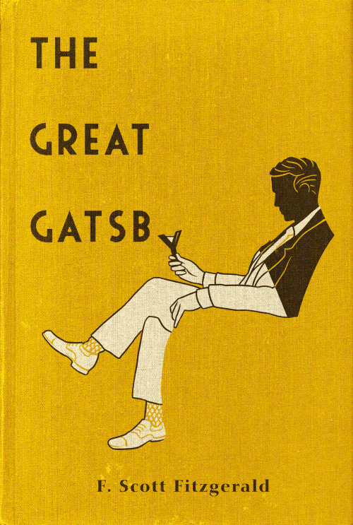 Gatsby Book cover design for The Great Gatsby available as a limited edition print in my store and as a tee from Out of Print Clothing.