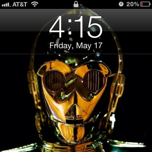 And this is my iPhone, human-cyborg relations. #starwars #threepio #ivegotabadfeeligaboutthis