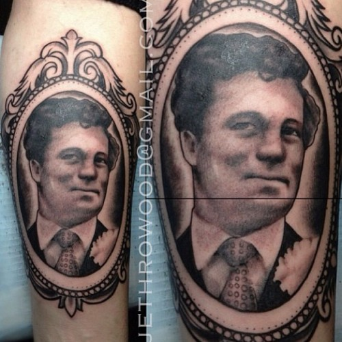 Beautiful #portrait #tattoo by @jethrowood at #thecirclelondon  (at The Circle Tattoo)