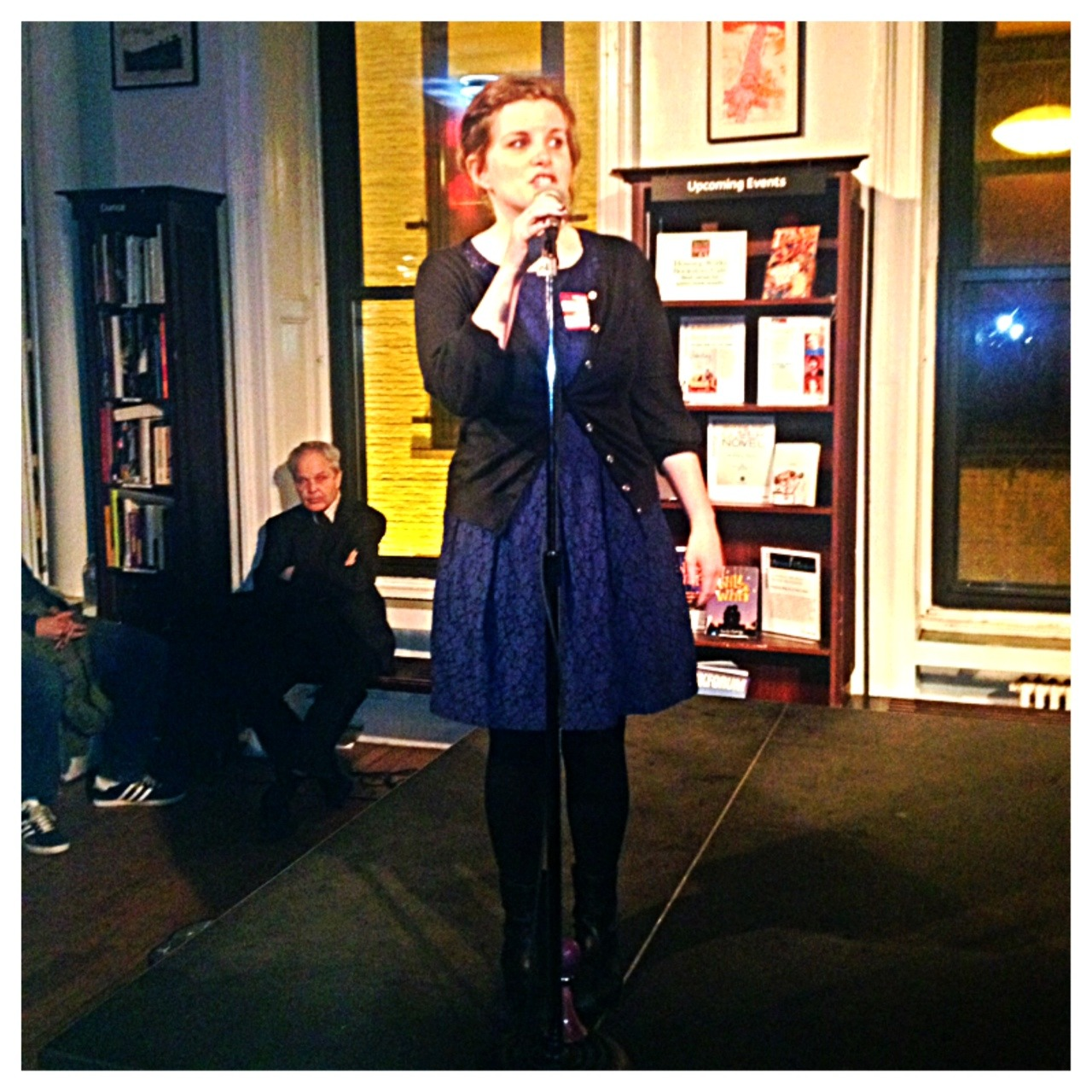 Last night at Housing Works Bookstore Cafe, we had a glorious launch party for the wonderful Tumblr-born book Adulting: How to Become a Grown-up in 468 Easy(ish) Steps by Kelly Williams Brown.  The night featured stories of being not-quite-grown-up from some of the Internet's funniest writers: Kelly, Julieanne Smolinski, Lindsey Weber, Christine Friar, Caragh Poh, John Asante, and Kelly's editor Meredith Haggerty. Our guest bookseller Word Brooklyn sold out of every last copy! If you need a great graduation gift, a guide to life, or a bunch of hilarious Tumblrs to follow while you procrastinate everything you're supposed to be doing, we've got you covered.