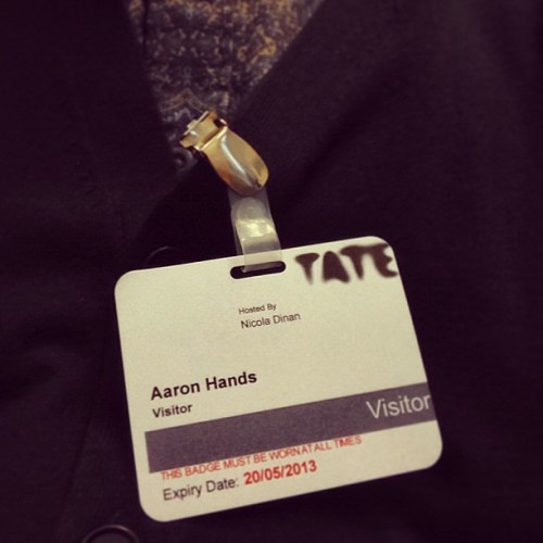 #interview done. Fingers x I get the job! #tate #work #arthandler