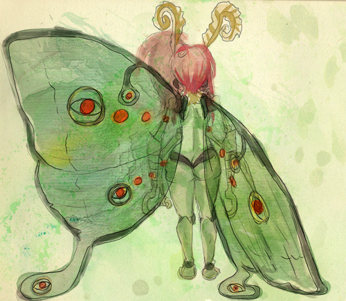 Gami wanted a reference of Neonata's wings so I speedpainted something