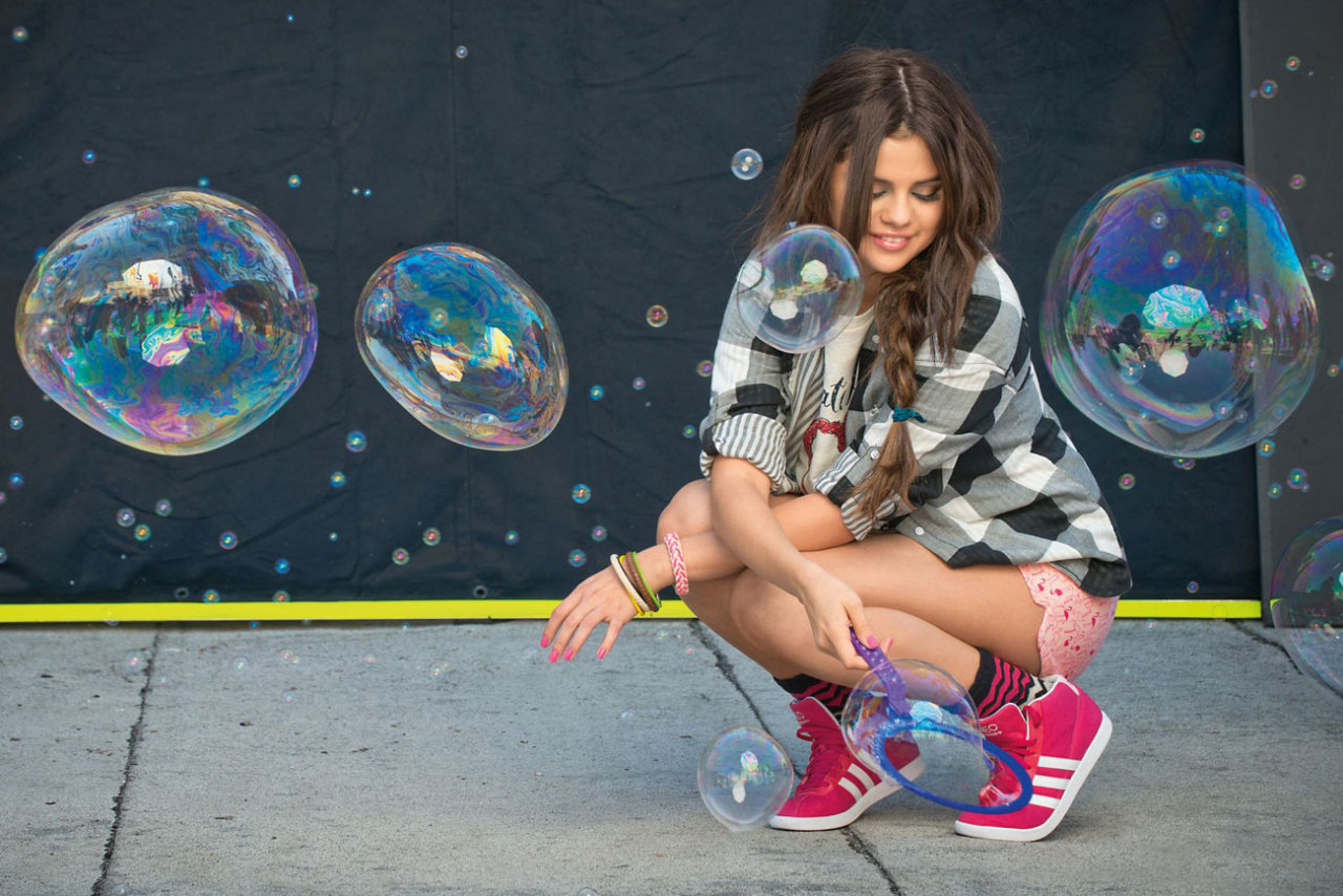 teenvogue:  Selena Gomez unveiled her super-fun designs for Adidas Neo. We can't wait to rock the athletic-inspired collection. See more standout pieces »