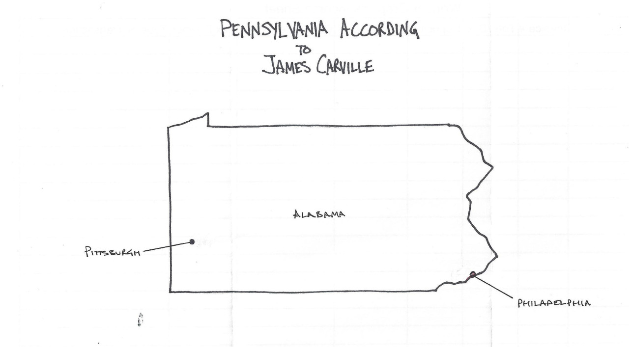 Pennsylvania According to James Carville.