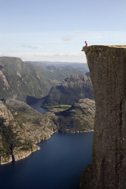ninbra:  A Man on the Edge. Pulpit Rock, Norway.