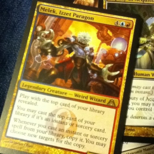 Days almost over and for today's Pack a Day i get Melek, Izzet Paragon… Ugh, i wish the Izzet champion was way more random.., #packadayhabit  #magicthegathering #melekizzetparagon