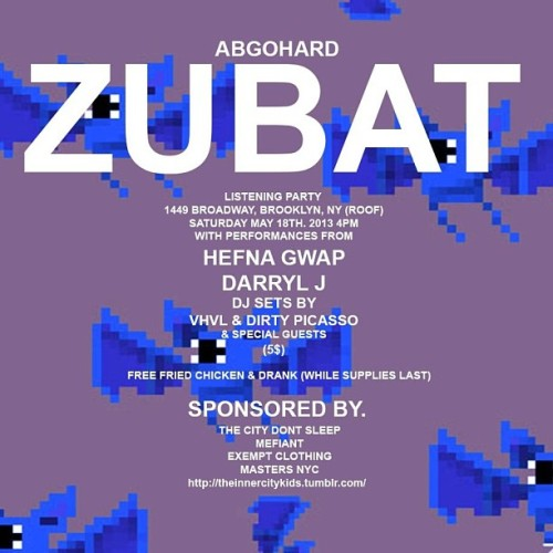 @abgohard 's Zubat listening party this Saturday!!! Come through and show some love!