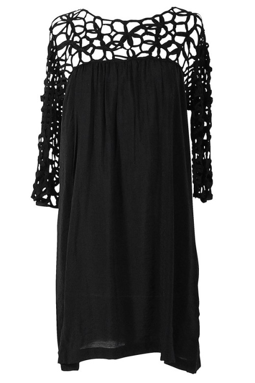 Macramé Maven Dress in Black lilyboutique.com - $38