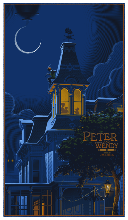 "Heads Up: Laurent Durieux's ""Peter Pan (Peter and Wendy)"" Art Print  People of Earth: If you don't already own a Laurent Durieux print, now's your chance. I get it. I really do. Laurent's work is, in a word, spectacular. It's also incredibly limited in most cases, meaning if you're not at a gallery's opening reception or one of the first people to click ""Add to Cart,"" then it can be pretty damn hard to get your hands on one of his posters. But that all changes right now, because Hero Complex Gallery is running a timed pre-sale right this very minute.  Click here to read more 