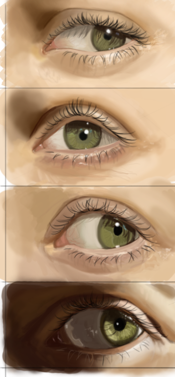 Today's quick eye studies.