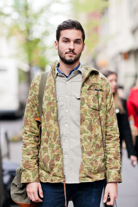 Street Style: The Camo-Print Jacket