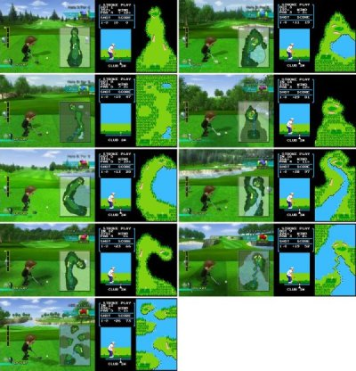 dorkly:  Wii Sports Golf Courses Are the Same as NES Golf 20 years and they couldn't come up with ANY new ideas? Talk about lazy.