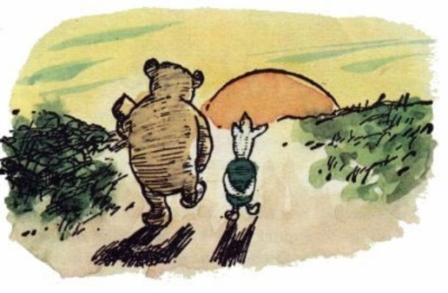 "wolvesdontwearboots:  ""We'll be friends forever, won't we, Pooh?"" asked Piglet. ""Even longer,"" Pooh answered.  Friends without a question, it just happened"