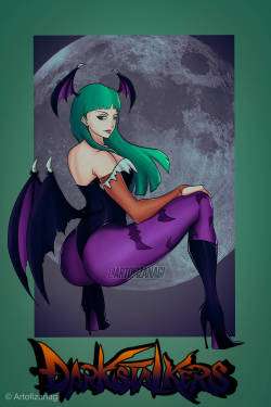 Morrigan Aensland by ArtofIzanagiAs found at