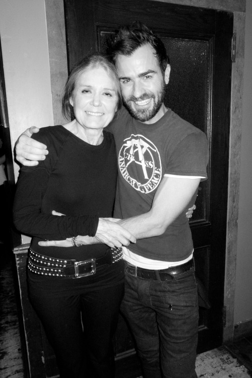 terrysdiary:  Gloria Steinem and Justin Theroux