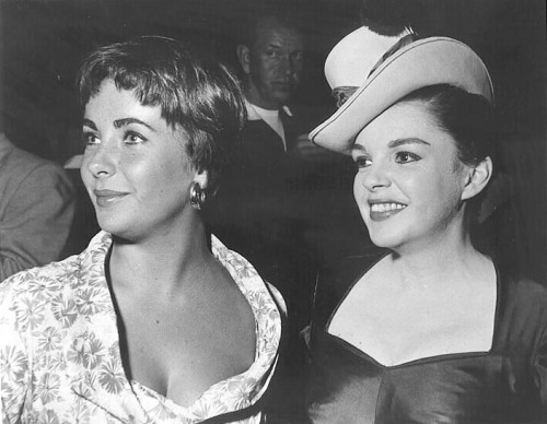 Elizabeth Taylor and Judy Garland