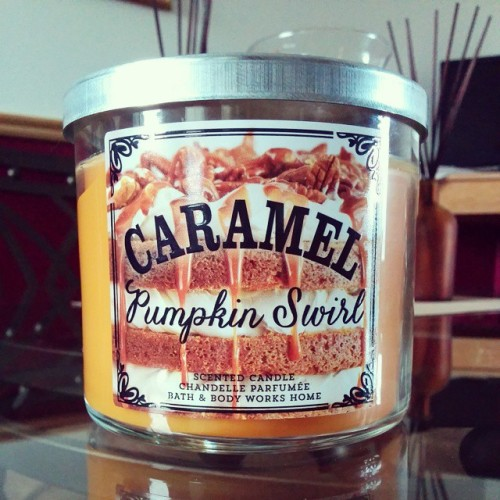 mylittleghoulie:  Just bought this candle from work and holy funk, it smells amazeballs. The season of pumpkin everything has arrived. 🎃 That sounds amazing!!