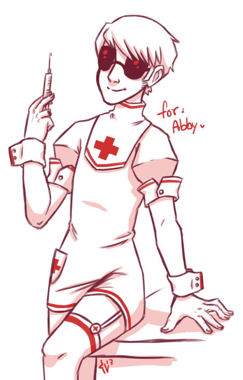 irrelevanthiccup:  nurse!Dave for Abbyto match with her maid!John I guess.