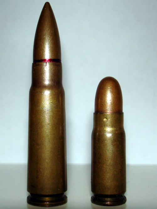7.62X39 and X25 They look really  big in this picture.