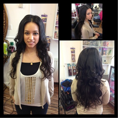Hair extensions I did today #hair #extensions #curls #long #pretty #fabulous