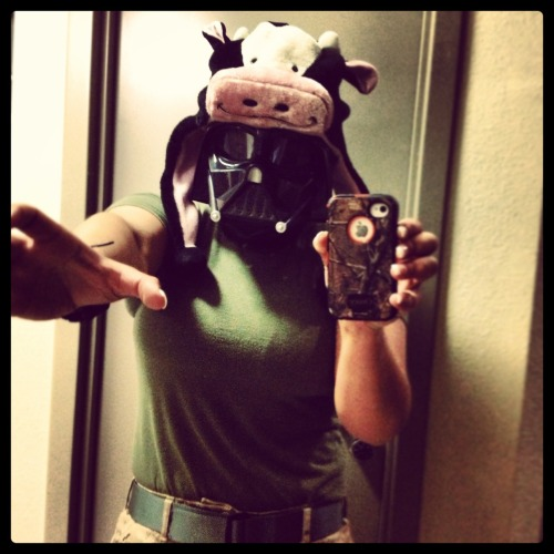 Moo. (You know you said that in a darth vader voice.)