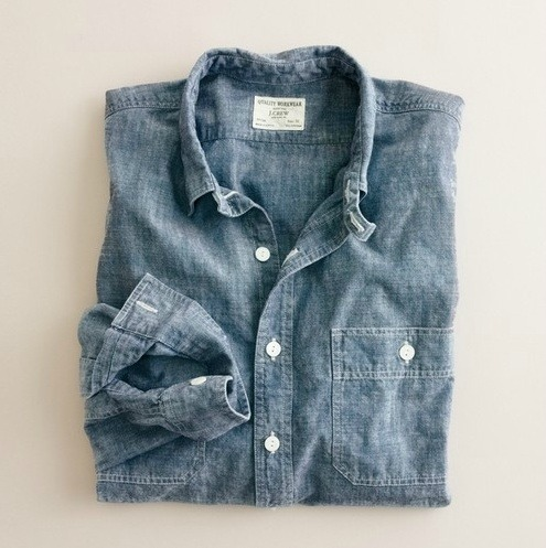 maninpink:  Classic chambray shirt | If you know where to buy this cloth or any other alike please leave the comment in my blog. Thx. Terry