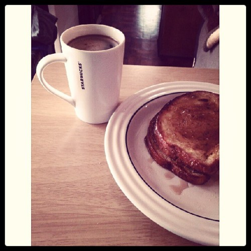 French roast with french toast. Haha.