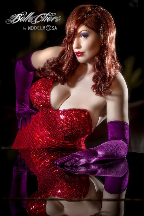 """Why don't you do right, like some other men do?"" Jessica Rabbit - costume made and modeled by me, BelleChere Photography and editing by ModelMosa"