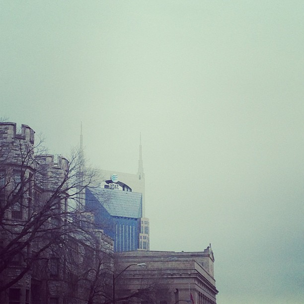 jondicus:  Batman building peeking through… #nashville #springbreak