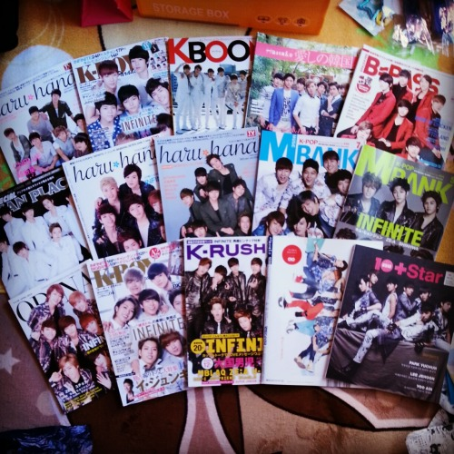 the amount of my infinite magazines…..=_=