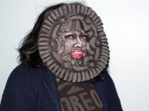 Oreo Faced Woman Will Haunt All Your Dreams No, I don't want Double Stuf'd, thank you very much.