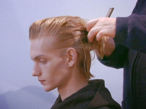Paul Boche Backstage at Faces of Menswear in Milan Fall 2012/2013.