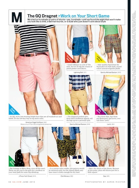 I shot some shorts for GQ. Cool! © Aaron Richter