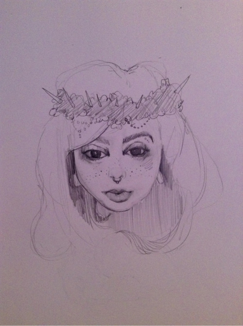 drawing stuffs. <3 she has perfect facial features. ugh!