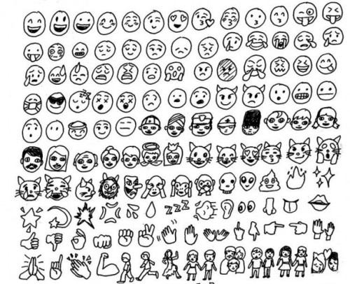 Seriously click through to see the rest: All the Emojis, Drawn