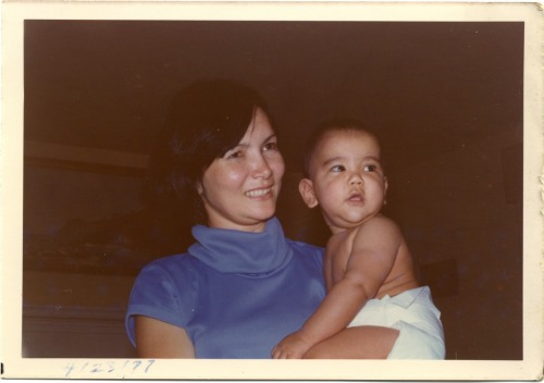 Found this pic of my mom and me from 36 years ago.   Happy Mother's Day!
