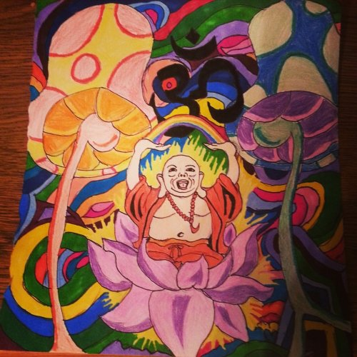 stonerparty:  sublime90:  One of my favorites I've drawn.    What's your favorite dream?