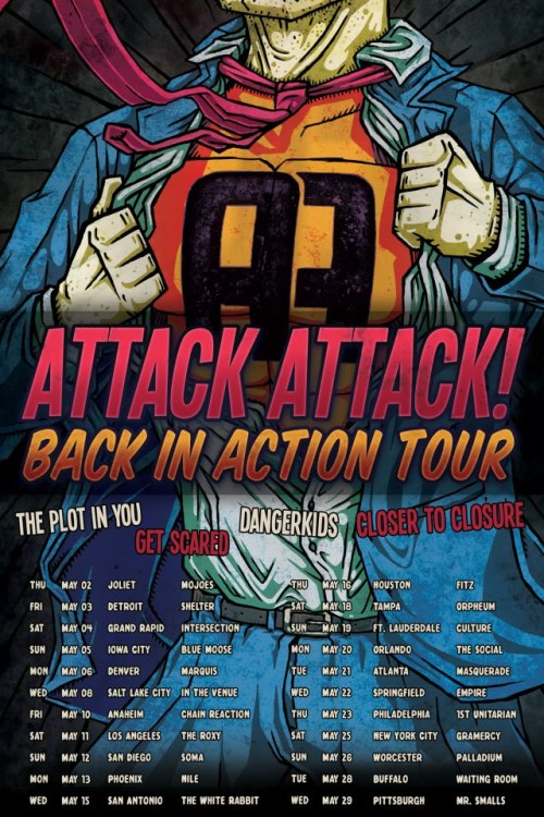 Attack Attack! announce a new tour with support from The Plot In You, Dangerkids, Closer To Closure and Get Scared.